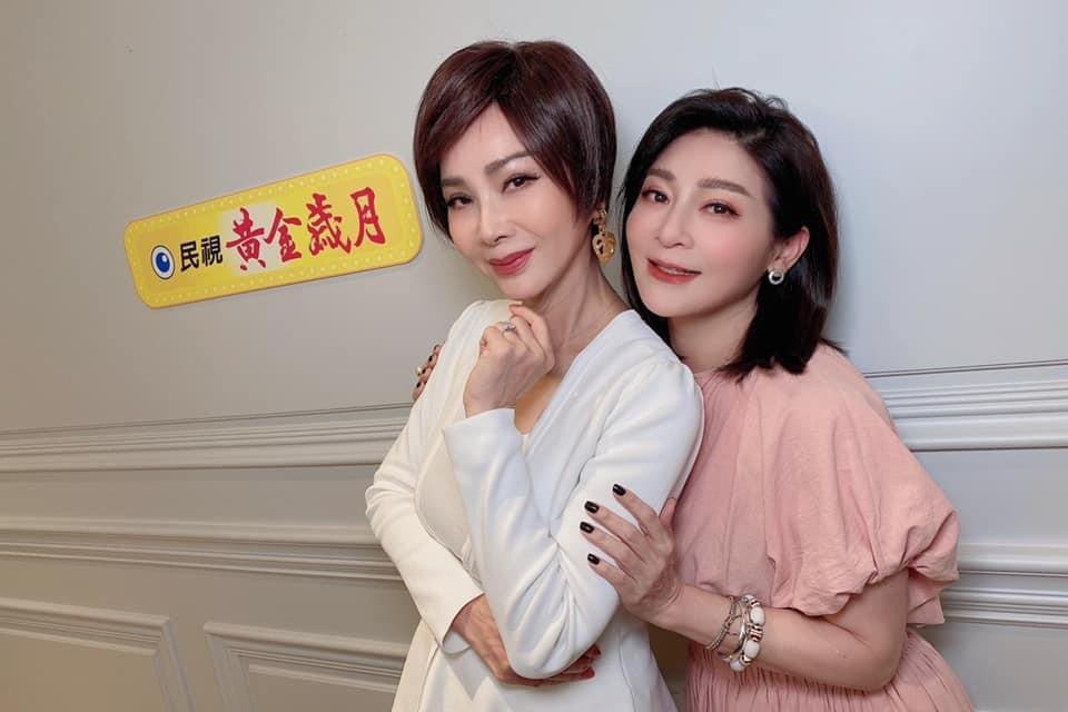 王彩樺(右)被愛犬咬傷,陳美鳳第一時間留言安慰。圖/民視提供