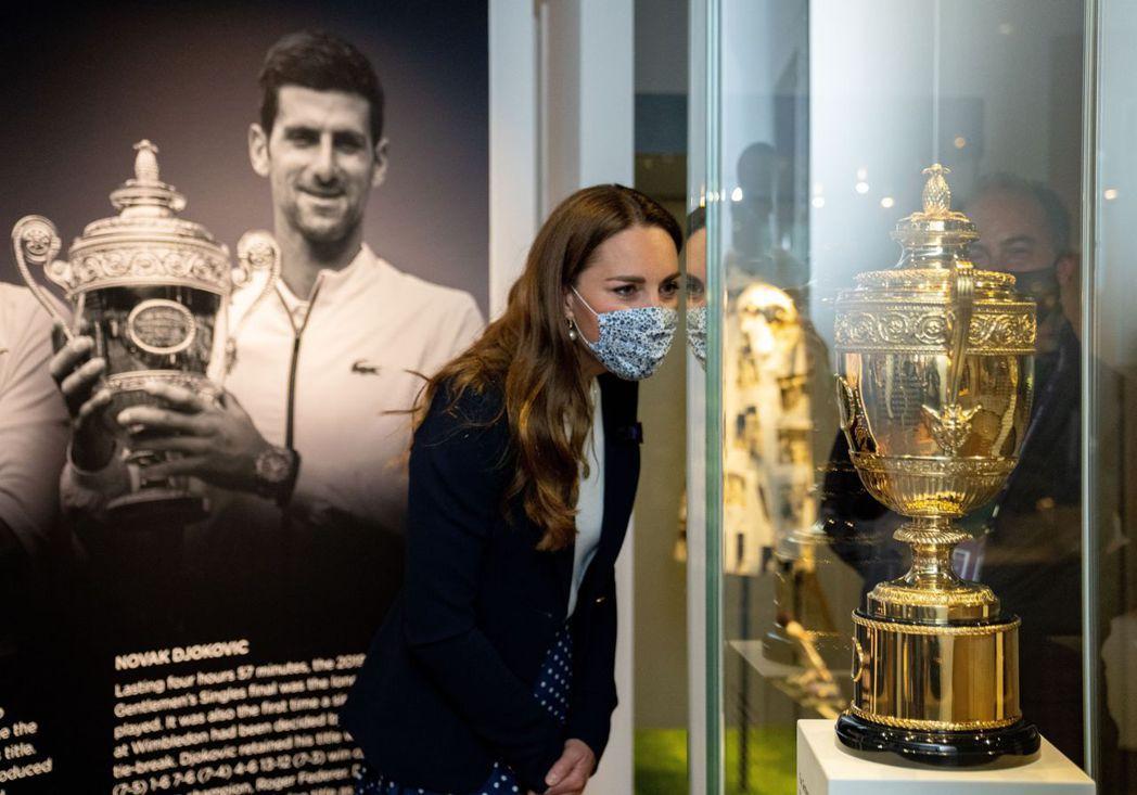 凱特王妃上周參加溫布頓網球公開賽。圖/歐新社