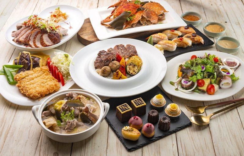消費者憑漢來海港餐券,可以兌換6~8道精選指定餐點。圖/漢來海港提供