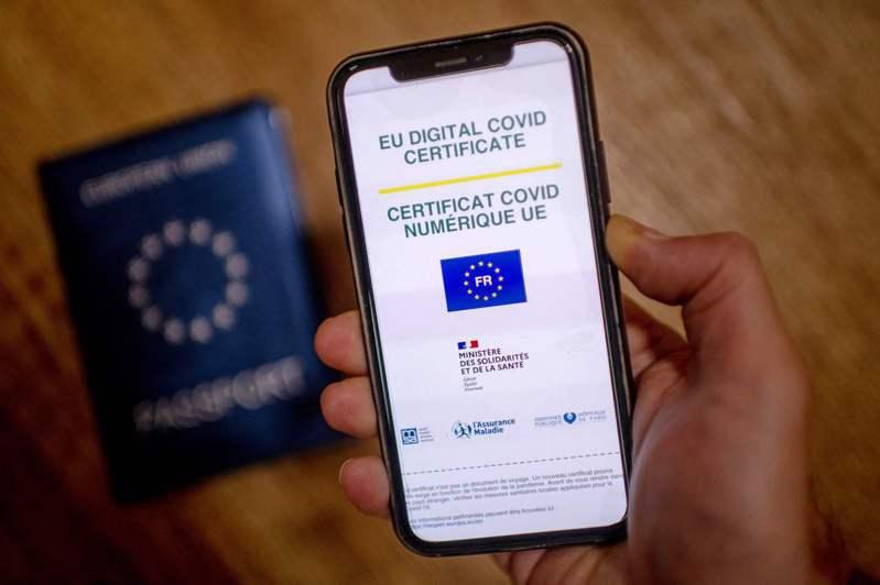 歐盟疫苗護照為單一格式,通行歐盟27國,大幅簡化歐盟國家間旅行。法新社