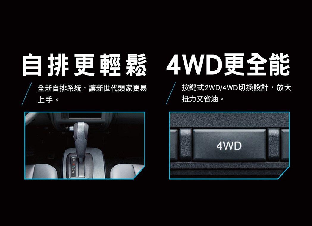 中華菱利自排系統 頭家駕馭更上手。 圖/中華汽車提供