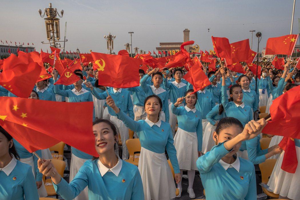 7月1日,中國共產黨建黨100週年慶祝大會。 圖/歐新社