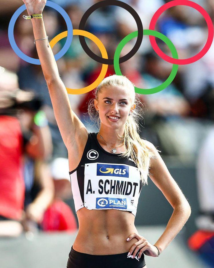 被媒體封為「最性感運動員」的Alica Schmidt將代表德國出征東京奧運。圖...