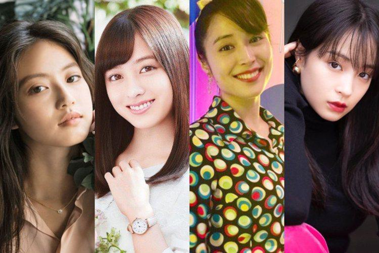 今田美櫻、橋本環奈(左一、二)共同拿下第三名。「廣瀨姊妹」(右三、右四)廣瀨愛麗...