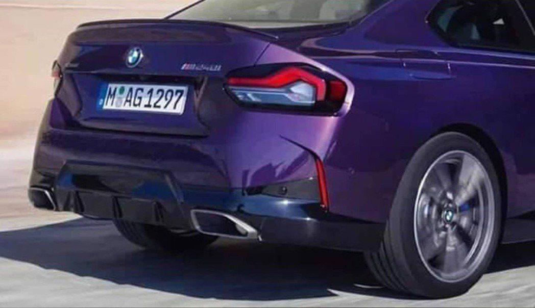 全新BMW M240i車尾流出照。 摘自carscoops