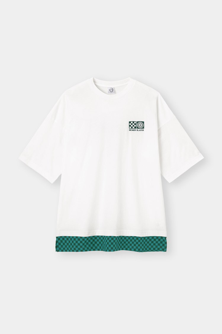 GU鬼滅之刃系列男裝T恤590元。圖/GU提供
