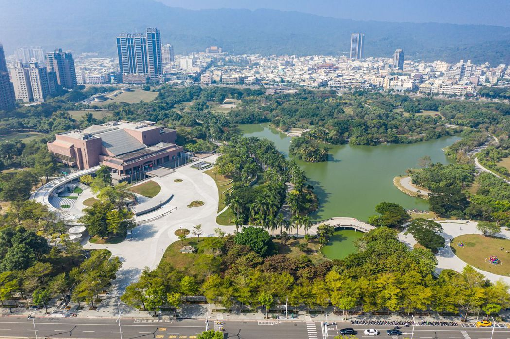 高美館改造後的全園區鳥瞰圖。圖/高美館提供