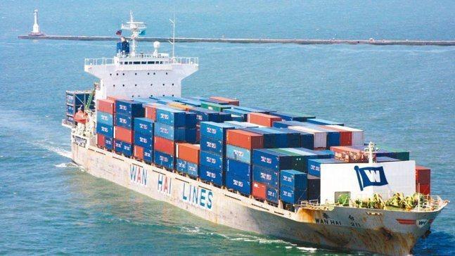 萬海航運船。(本報系資料照)