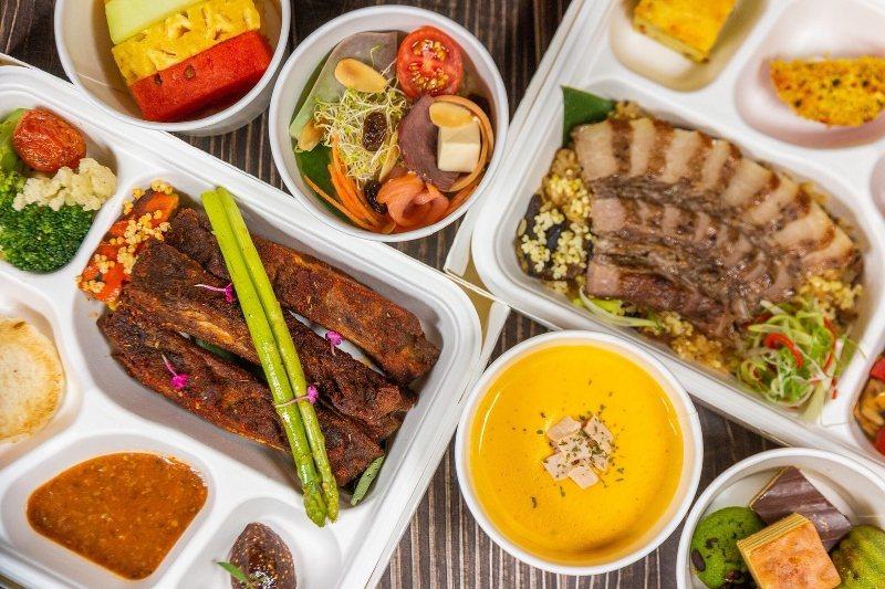 「里拉」餐廳的餐盒。 理想大地/提供