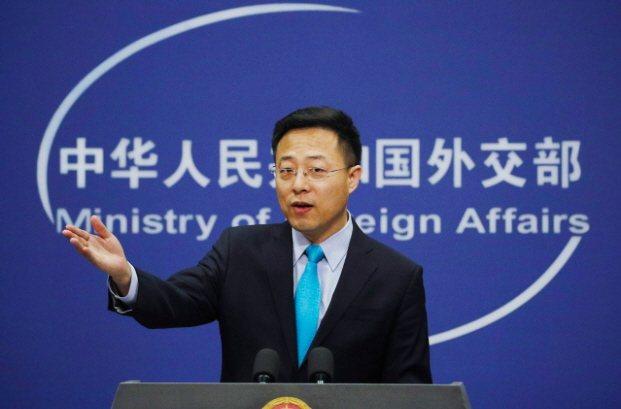 中國外交部發言人趙立堅。 美聯社