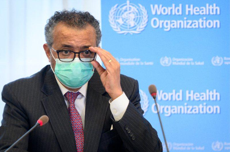 世界衛生組織(WHO)秘書長譚德塞。 美聯社