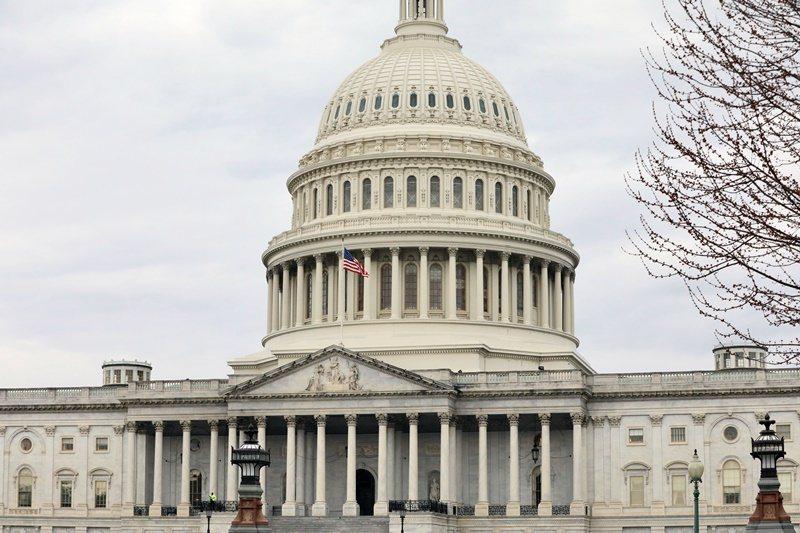 美國兩黨資深議員合力催生美國近年首部重大抗中法案。圖為美國國會大廈。(中央社徐薇婷)