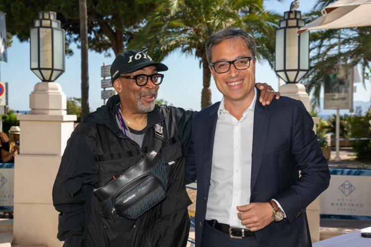 除了大秀機場穿搭,Spike Lee更在坎城與萬寶龍CEO Nicolas Ba...