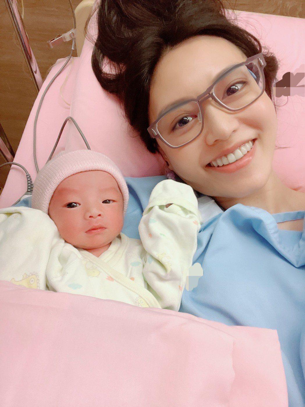 郭惠妮昨順利生下兒子。圖/孕醫生殖中心提供