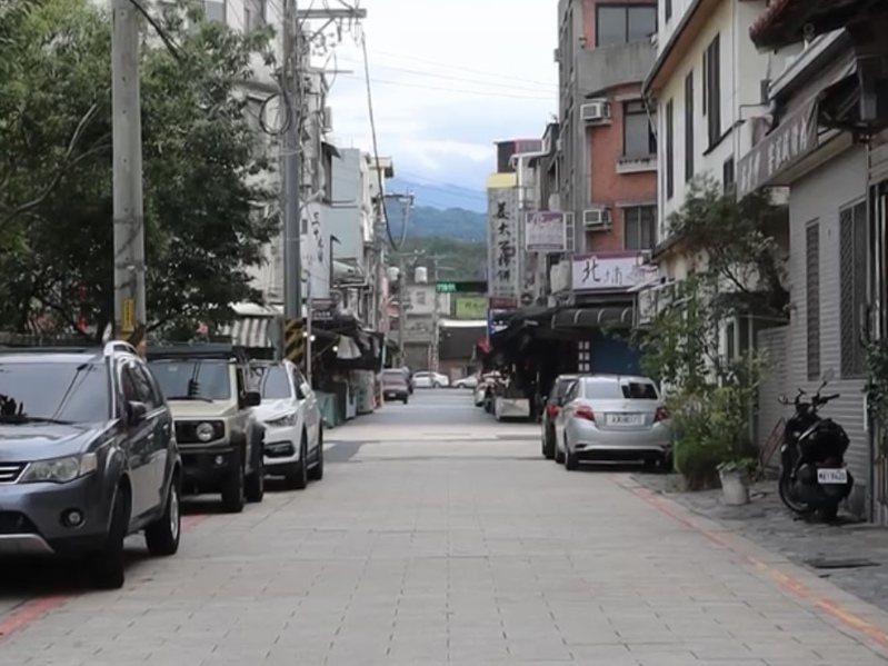 北埔老街看不到往日的熱鬧,只剩空盪的街道。記者巫鴻瑋/翻攝