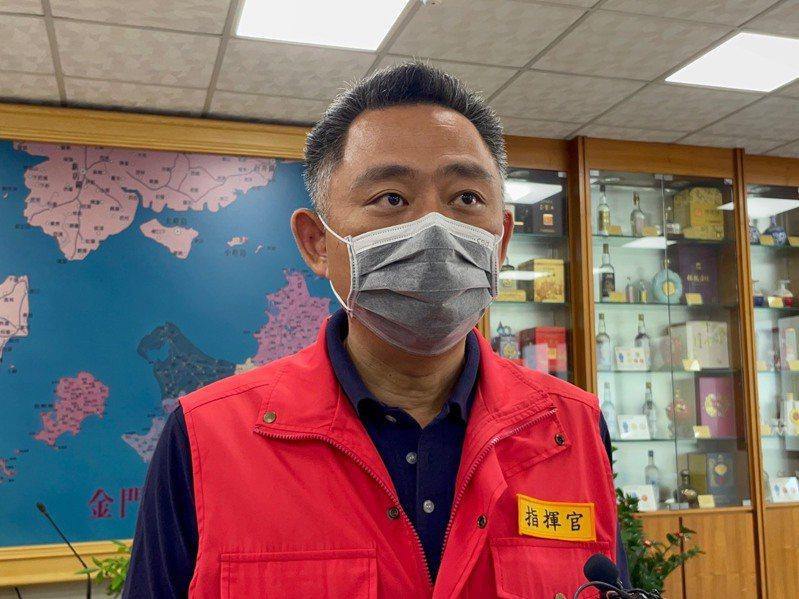 金門縣長楊鎮浯對這次預約疫苗系統試辦上路持肯定態度。圖/金門縣政府提供