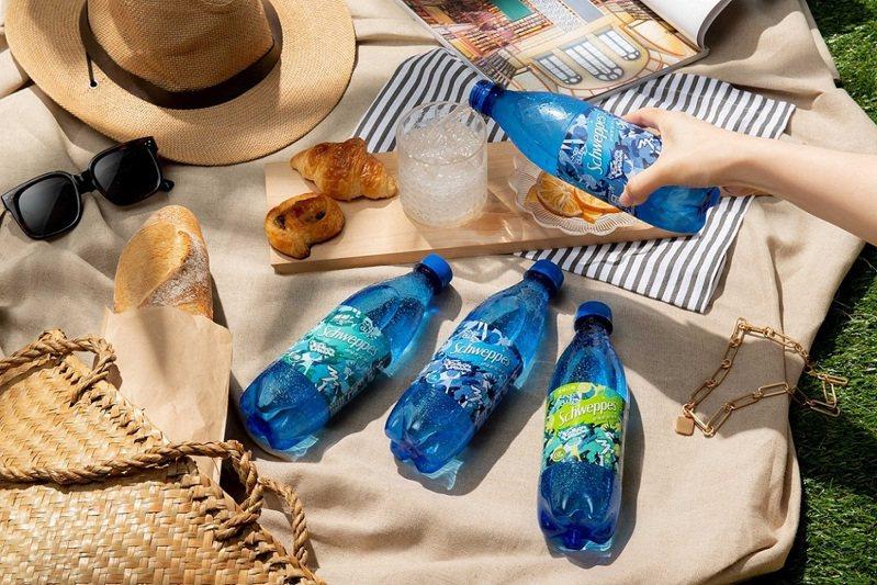 「Schweppes舒味思」今年推出潮感十足的限定款「狠氣泡藝術瓶」。圖/可口可樂公司提供