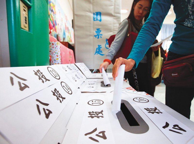 國民黨立院黨團提出召開臨時會修公投法,建立不在籍投票制度。本報資料照片