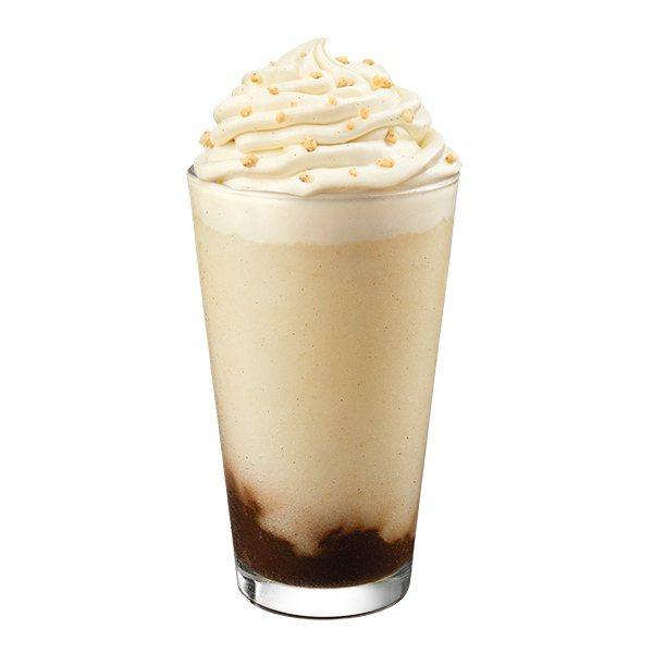 今夏新品「法式巧克力泡芙風味星冰樂」,售價145元起。圖/星巴克提供