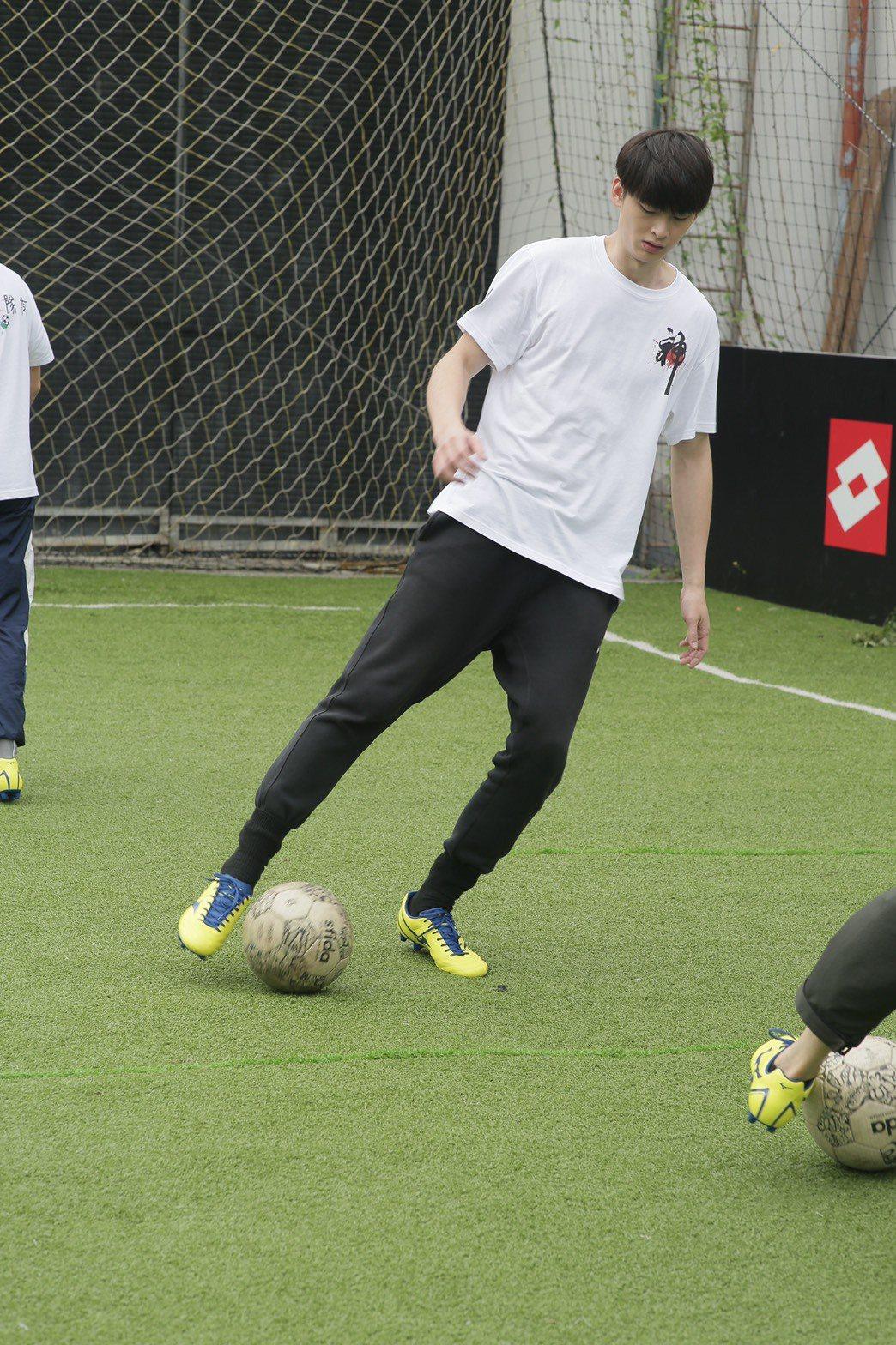 王庭勻從小就對踢足球有興趣。圖/凱渥提供