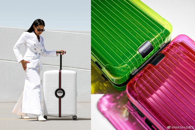 Samsonite全新概念IBON行李箱、RIMOWA的Neon系列,有著如同珠寶盒般的精緻外型,帶出門就能成為行人焦點。圖/Samsonite提供、摘自微博
