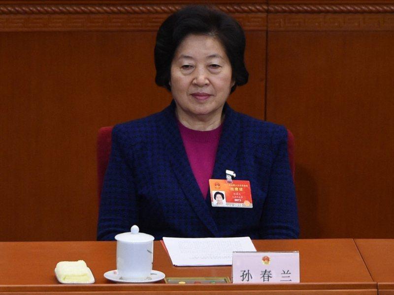 大陸副總理孫春蘭分管體育工作,共同社稱,她是否出席東奧開幕式,將根據日本新冠疫情狀況最終判斷。(法新社)
