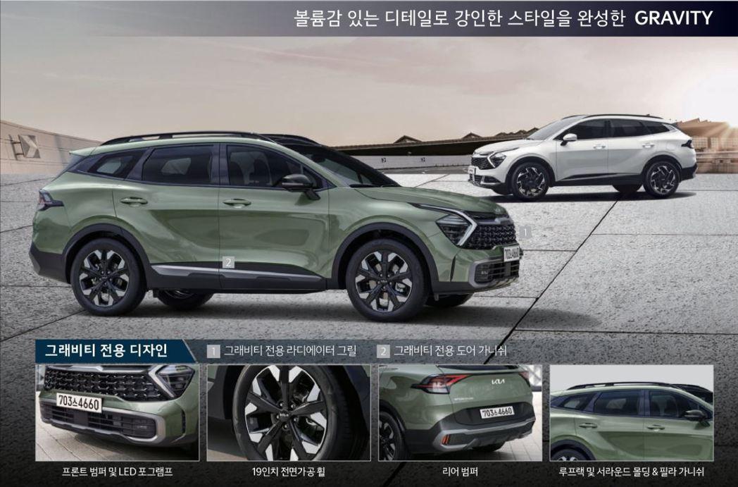 韓版Kia Sportage Gravity車型。 摘自Kia