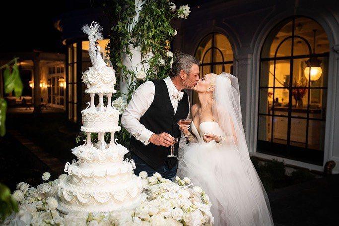 關史蒂芬妮、布雷克雪爾頓的婚禮有如電影般的夢幻場景。圖/取自IG