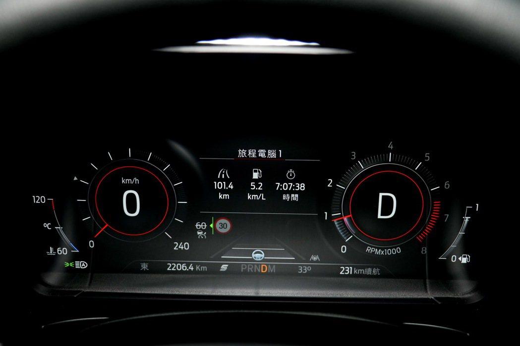 12.3吋全液晶數位儀錶螢幕。 記者陳威任/攝影