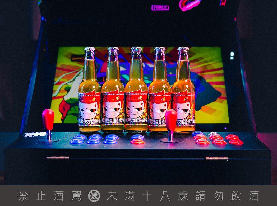 「給厭世少女的溫柔汽油彈」以酸甜的蘋果香氣,輔以玫瑰、刺蔥、仙渣等元素,中和啤酒...