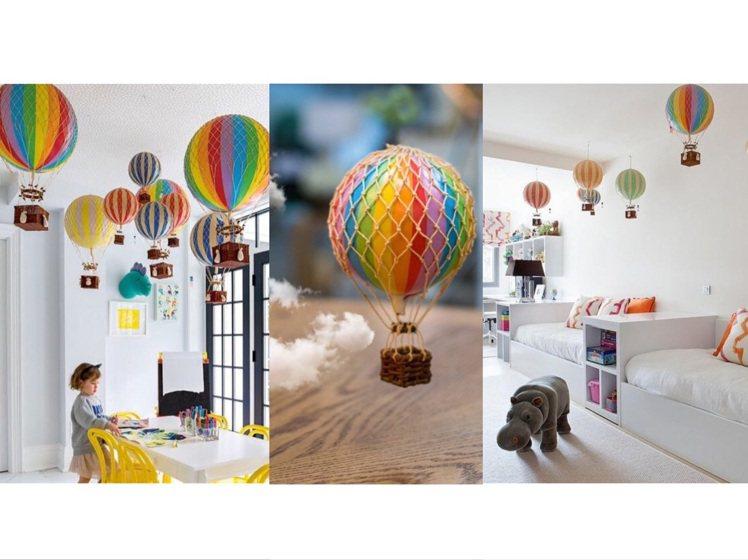 繽紛可愛的Authentic Models熱氣球。圖/Marais瑪黑家居選物
