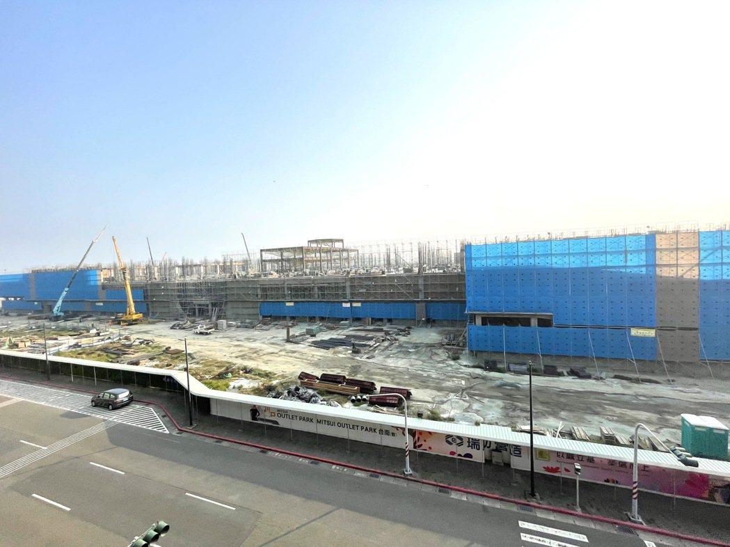 三井OUTLET台南目前已至結構工程,預計2022年營運。