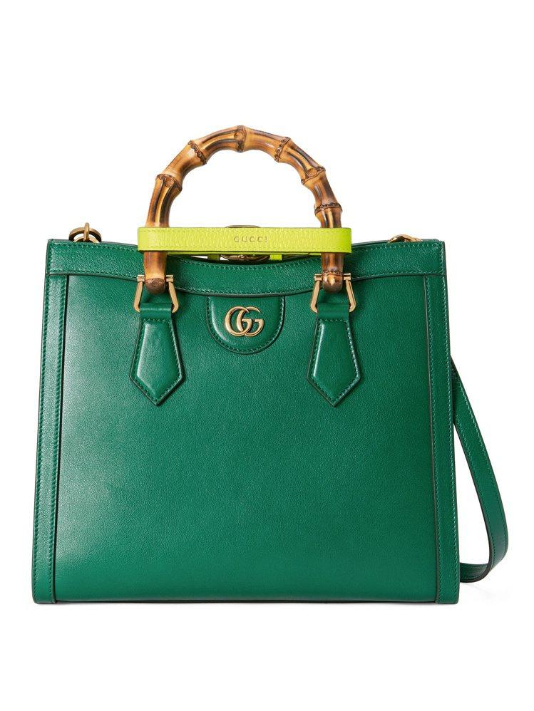 GUCCI Diana綠色小型手提包,11萬2,000元。圖/GUCCI提供