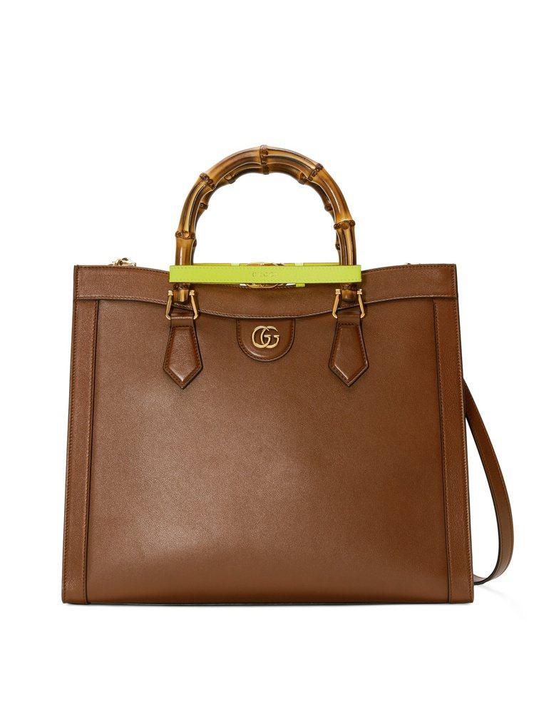 GUCCI Diana棕色中型手提包,13萬3,500元。圖/GUCCI提供