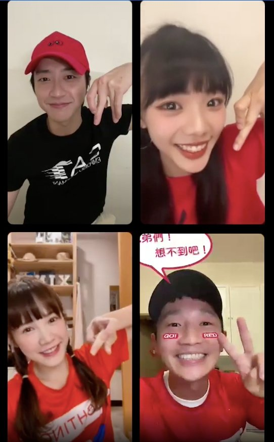 江宏傑(左上)與師妹木木(左上)昨晚「傑木現場」邀來吳心緹(左下)與蔡昌憲同框閒