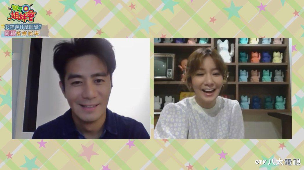 郭彥均(左)和莎莎視訊錄「WTO姐妹會」。圖/八大提供