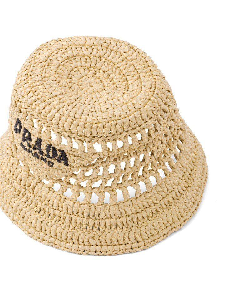 拉菲草漁夫帽,18,000元。圖/PRADA提供