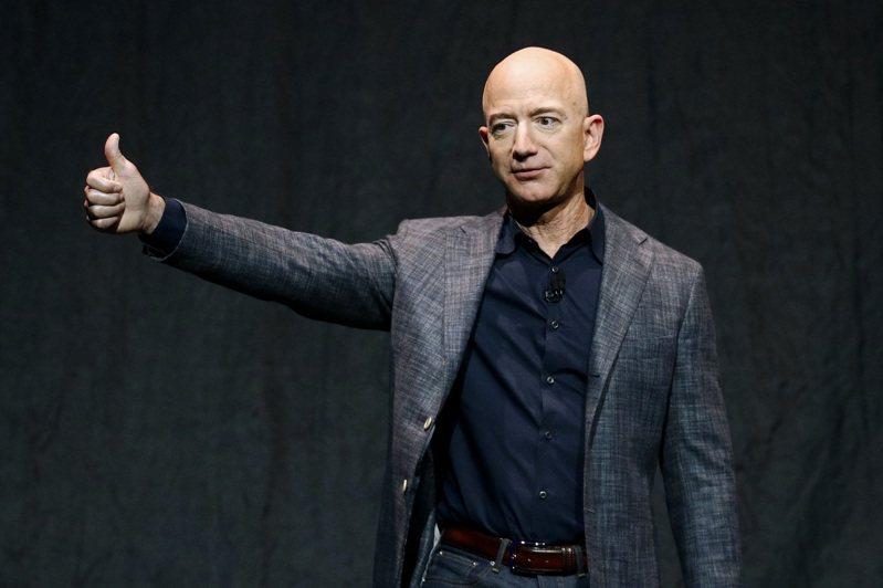 亞馬遜創辦人貝佐斯穩坐全球首富。 (美聯社)