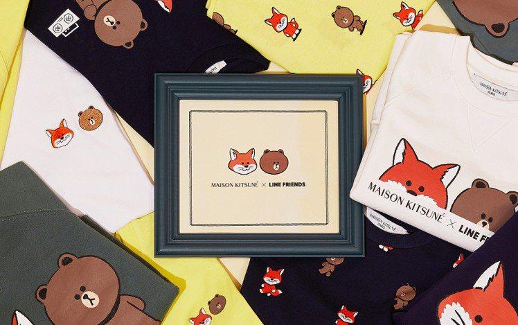 Maison Kitsuné X LINE FRIENDS T恤(成人),約3,...