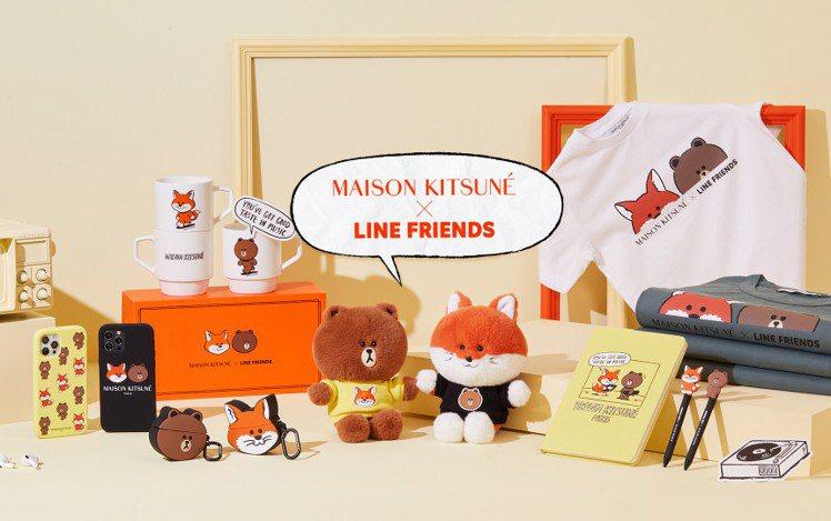 Maison Kitsuné X LINE FRIENDS聯名系列7月8日上市。...