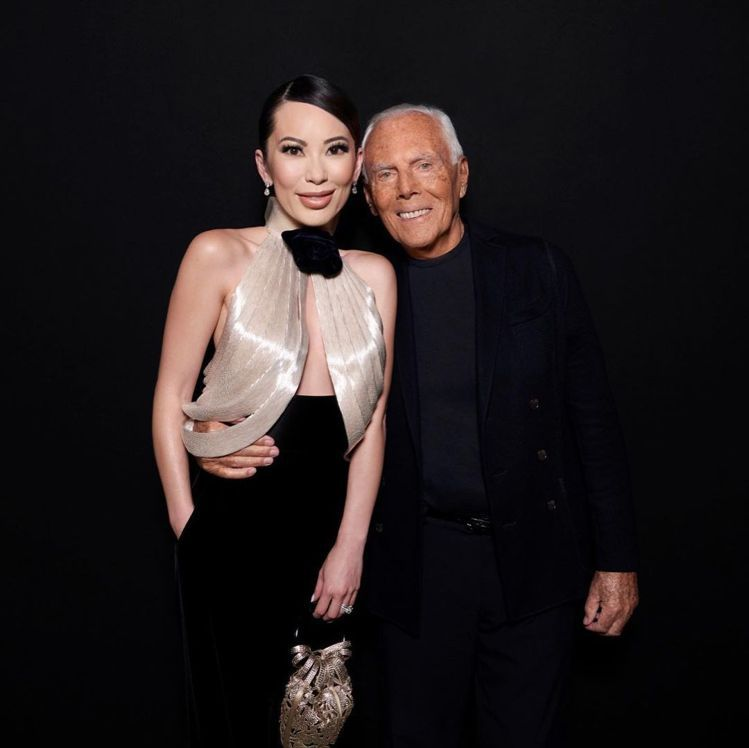 Christine Chiu和Giorgio Armani先生合照。圖/取自IG