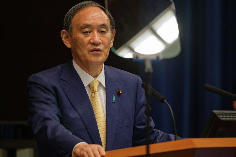日本首相菅義偉。 歐新社
