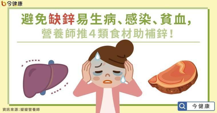 避免缺鋅易生病、感染、貧血,營養師推4類食材助補鋅!