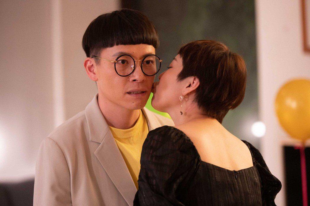 游小白終於有吻戲了。圖/TVBS提供