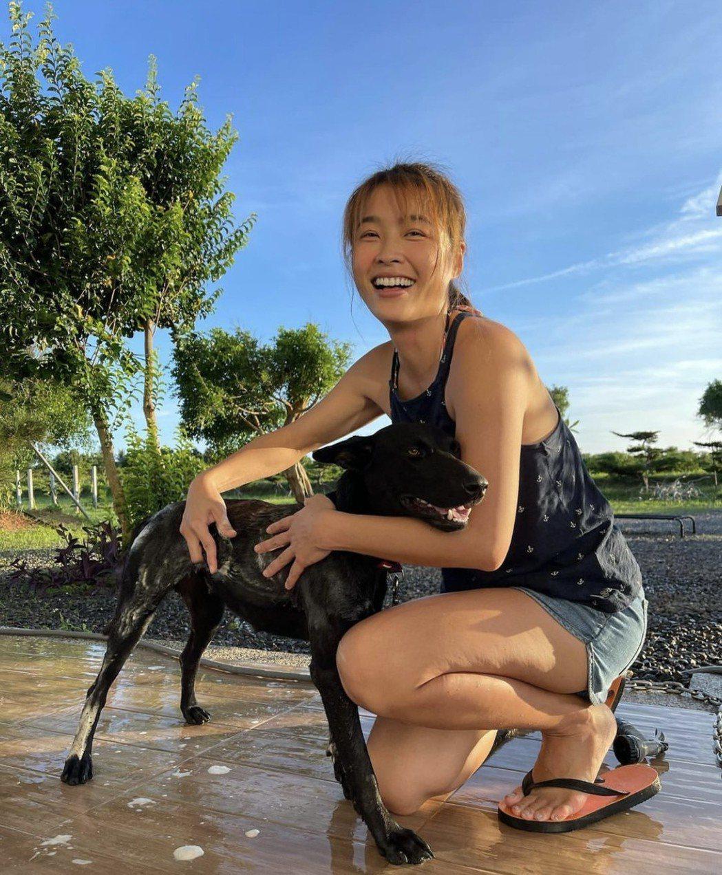 小嫻養了狗,生活非常充實。圖/摘自IG