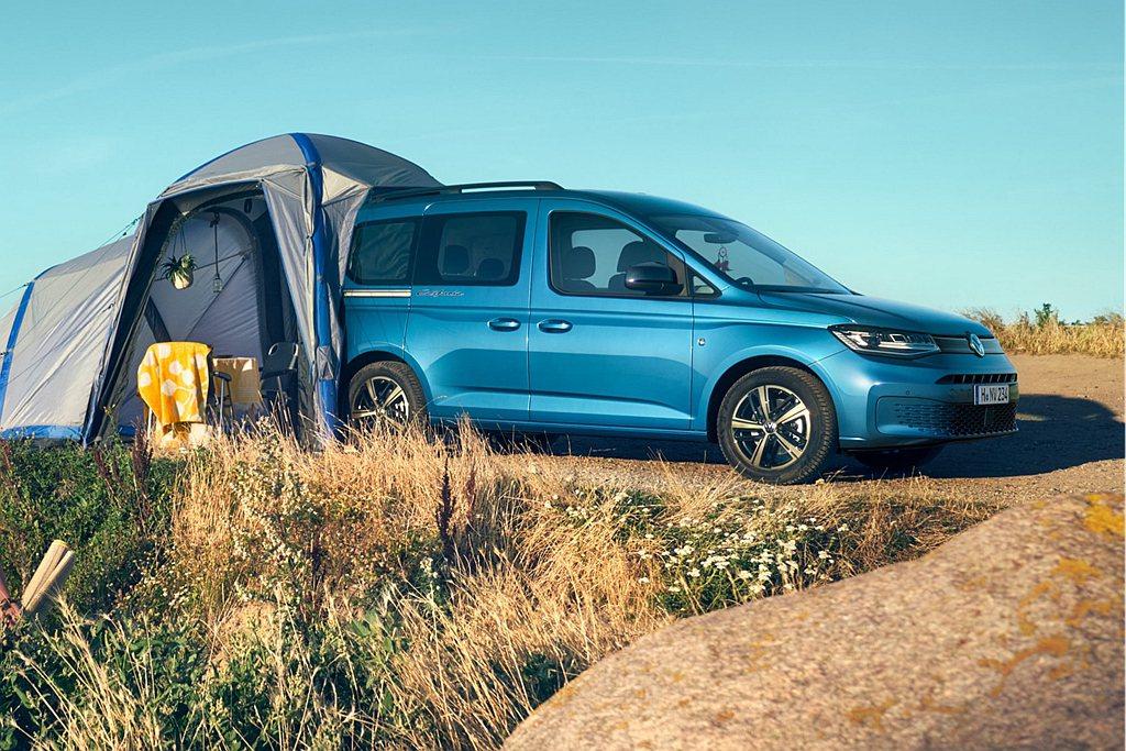 大改款福斯商旅Caddy新增California車型,成為品牌最容易入手的露營車...