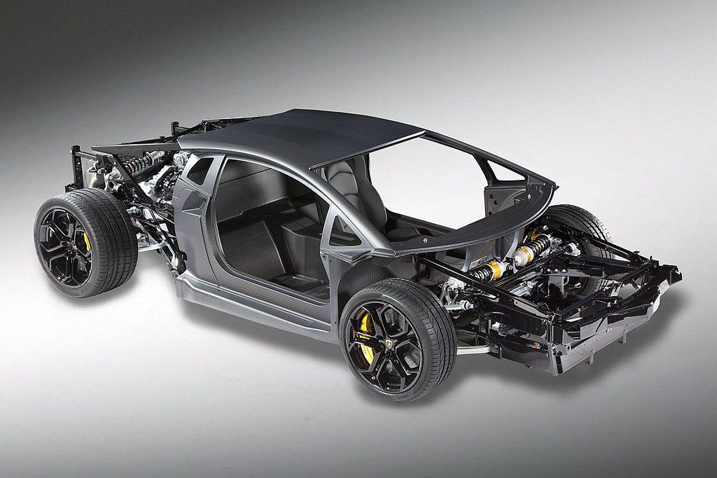 Lamborghini Aventador LP 700-4採用了首見於品牌車系...
