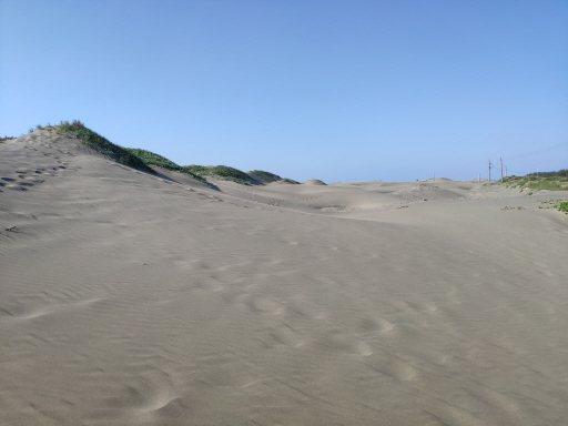 台南七股頂頭額汕獨特的沙丘景色,見證大自然造物奧妙與威力。 圖/謝進盛 攝影