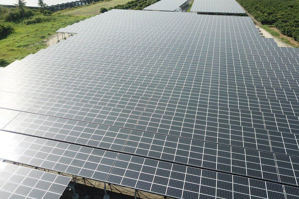 太陽板示意圖。力暘能源/提供