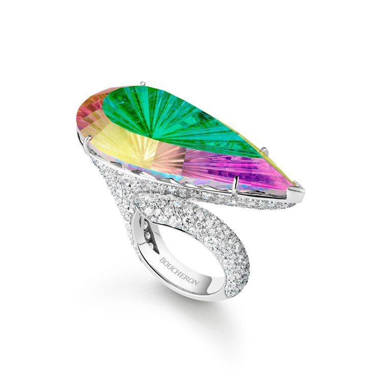 Boucheron Holographique高級珠寶系列Prisme戒指,利用...